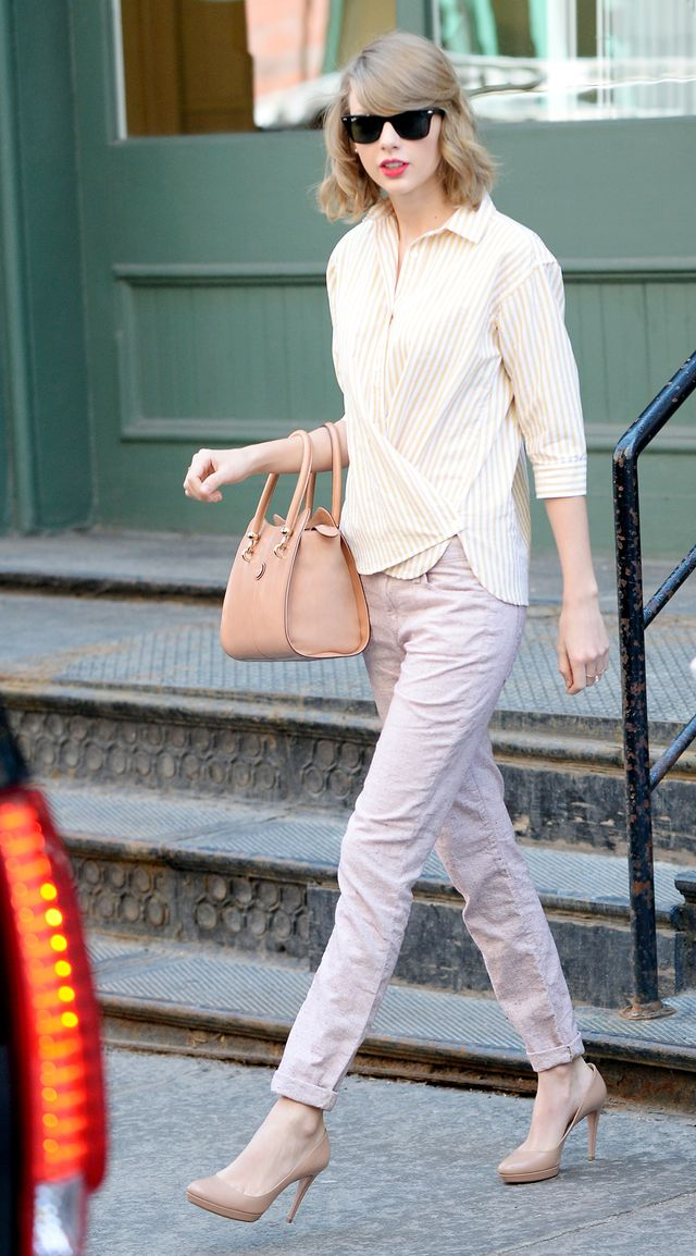 Day 5: Pastel Shirt + Cropped Pants + Neutral Pumps