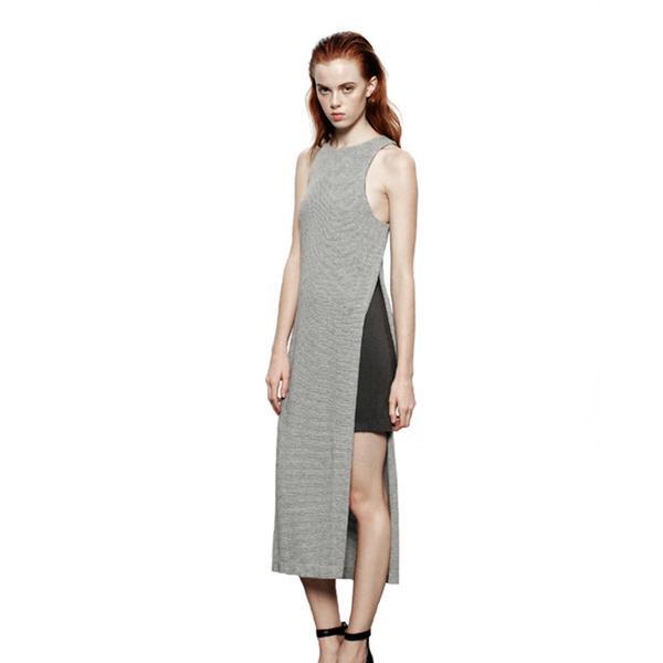 Addison Lace Peek-A-Boo Tank Midi Dress