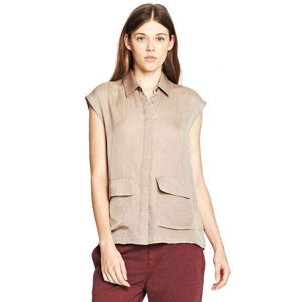 Armani Exchange Double Pocket Utility Blouse