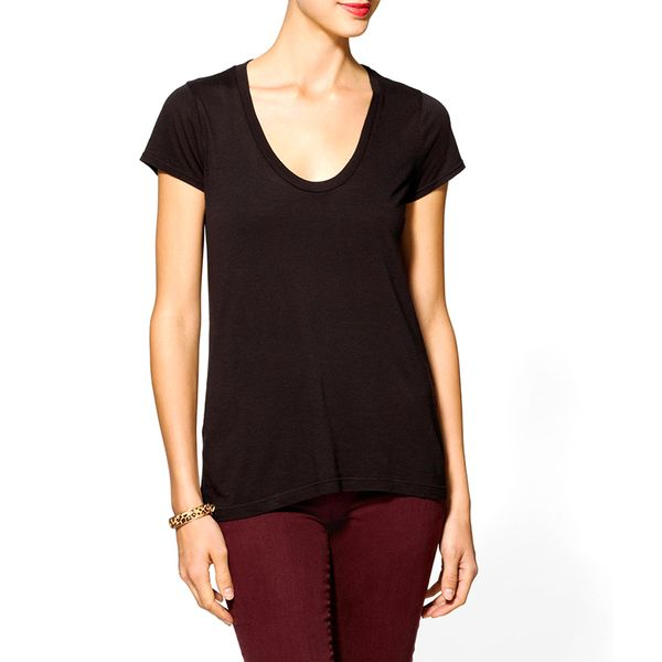 Splendid Very Light Jersey Scoop Neck Tee