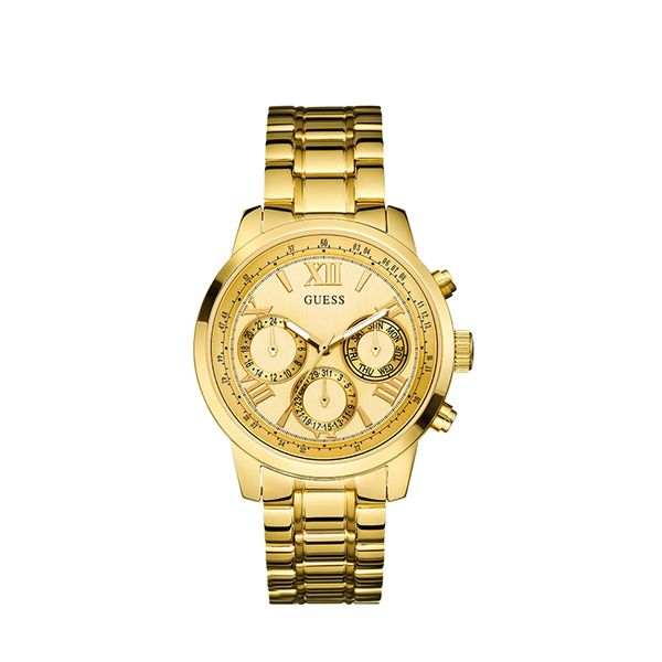 Guess Gold-Tone Feminine Classic Sport Watch
