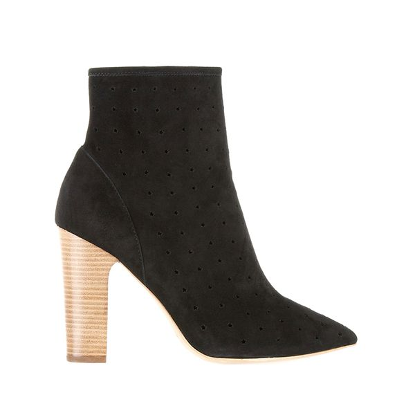 See By Chloé Perforated Suede Ankle Boots