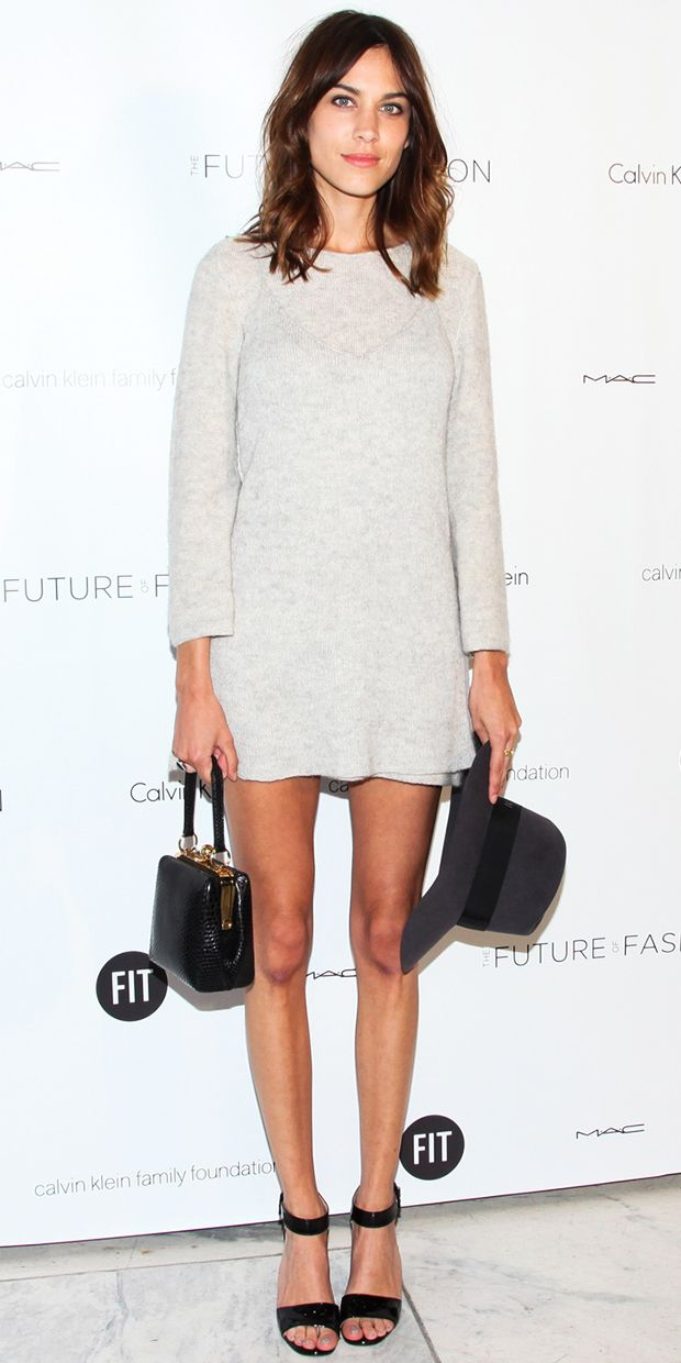 Alexa Chung Keeps It Cool In Calvin Klein