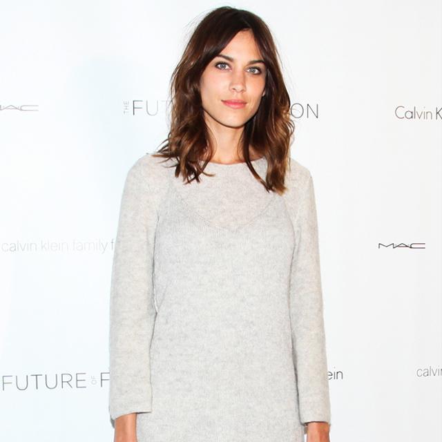 Alexa Chung Keeps It Cool In Calvin Klein