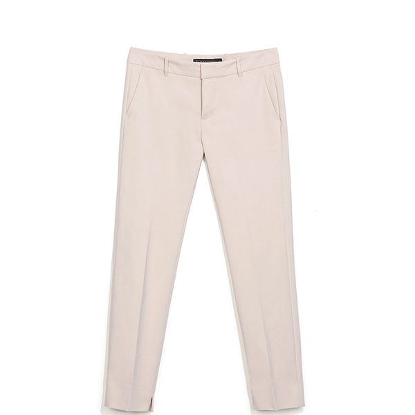 Zara Trousers With Slit At The Hem