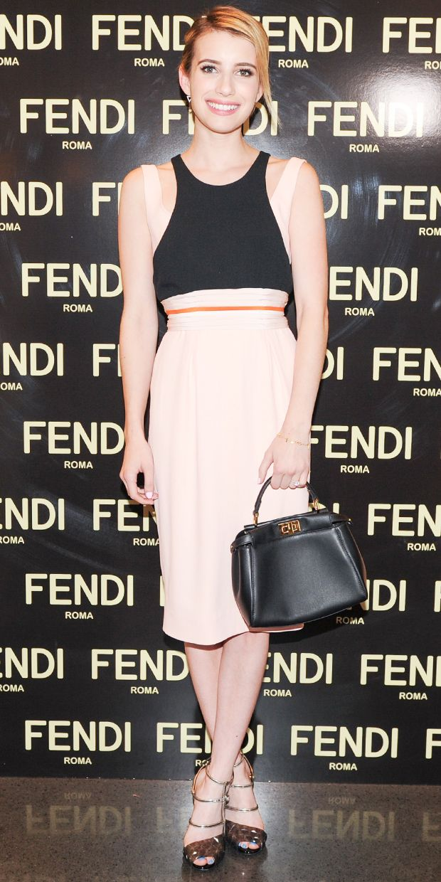 Emma Roberts Plays Up Her Softer Side In Fendi