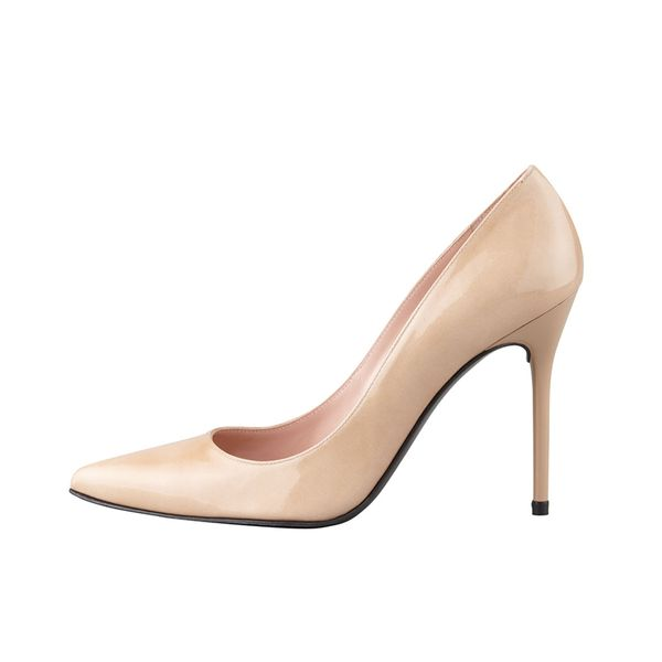 Stuart Weitzman Nouveau Patent Point-Toe Pumps