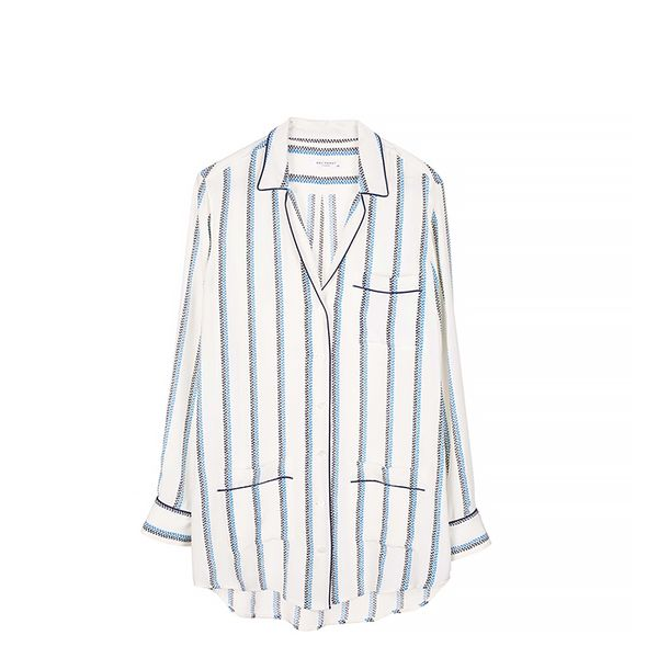 Equipment Keira Pinstripe Blouse