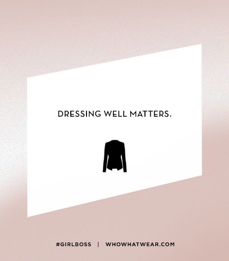 Lesson 10: Dressing well matters.