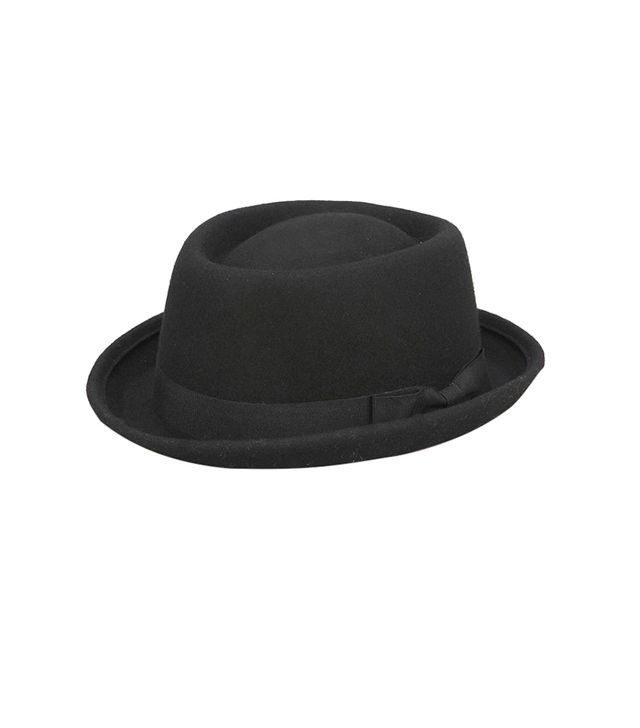 Urban Outfitters Felt Rolled Brim Porkpie Hat ($44) in Black