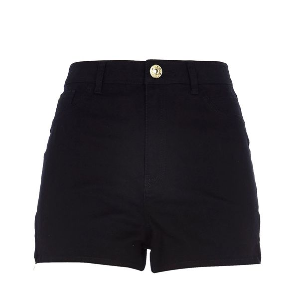 River Island Black High Waisted Stretch Shorts