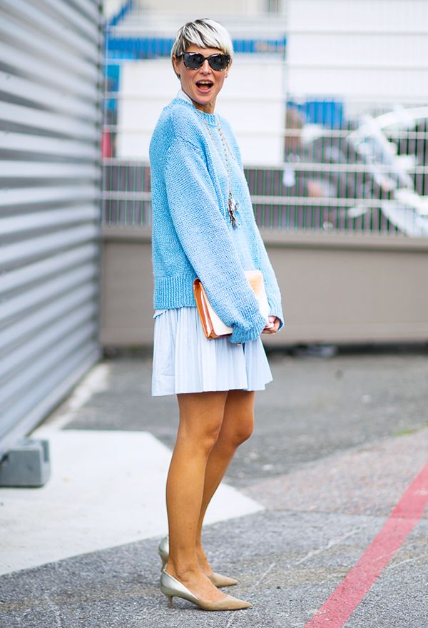 Embrace your softer side with baby blue hues.