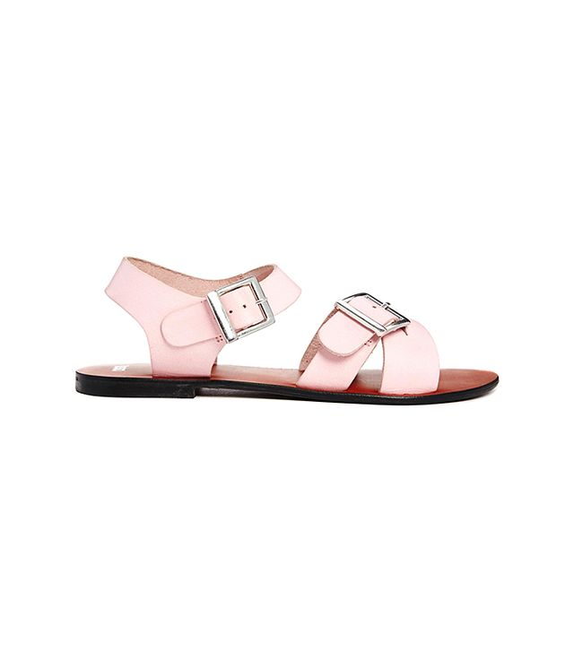 Not a huge fan of pink? Let these powder pink sandals change your mind. 
