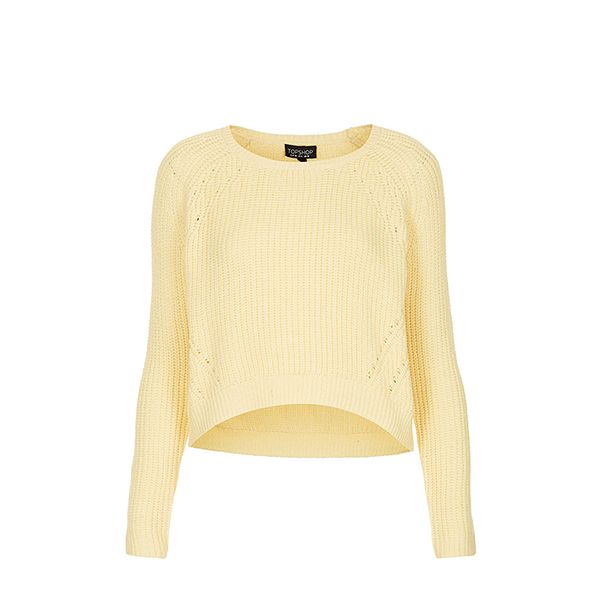 Topshop Knitted Curve Crop Jumper