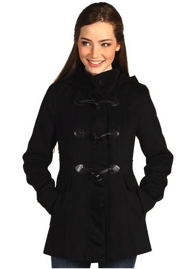 Kensie Kensie Hooded Toggle Front Coat