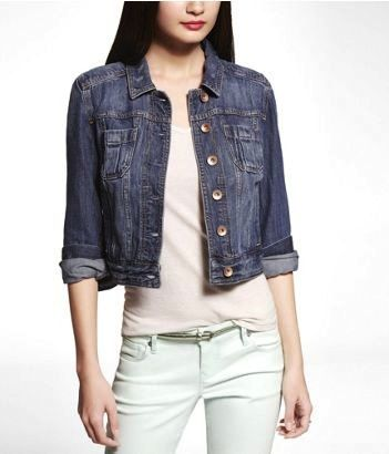 Express Express Patch Pocket Denim Jacket