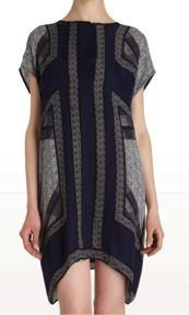 Vince  Cap Sleeve Tunic Dress