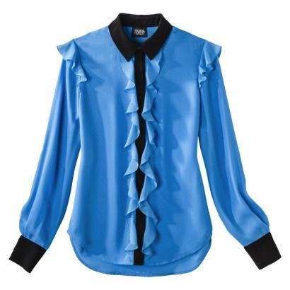 Prabal Gurung for Target  Prabal Gurung for Target Ruffle Front Long Sleeve Blouse