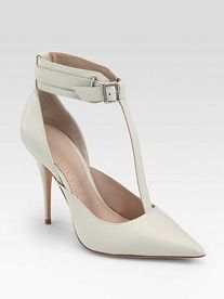 Elizabeth and James Saucy Leather T-Strap Pumps