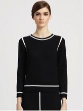 Marc Jacobs  Wool Contrast Stitch Sweater