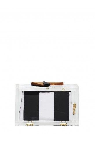 Alice + Olivia Lucite Box Clutch