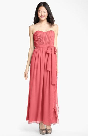 Donna Morgan Rose Strapless Dress