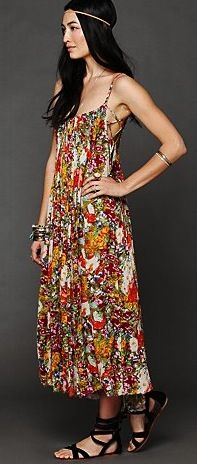 Free People Criss Cross Florals Maxi Dress