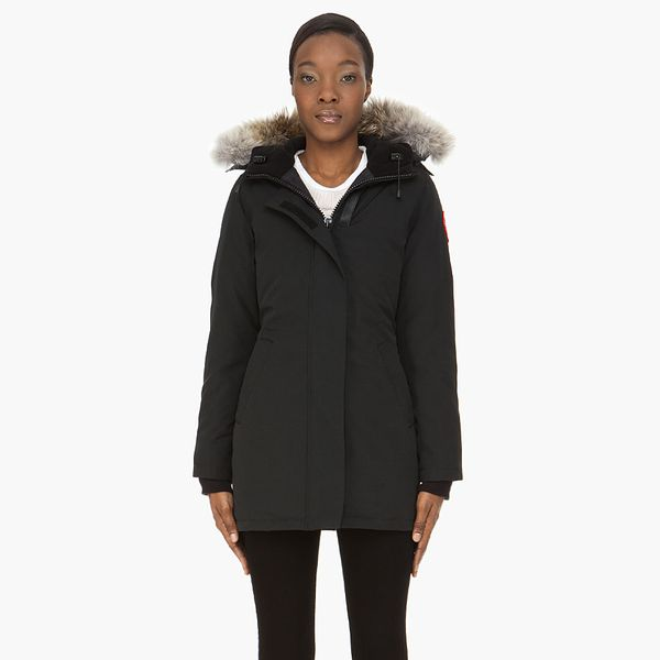 Canada Goose  Black Fur-Trimmed Victoria Parka