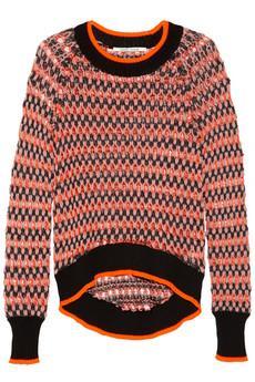 Skaist-Taylor  Neon Open-Knit Sweater