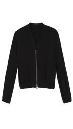 Tib Tibi Heavy Silk Bomber Jacket