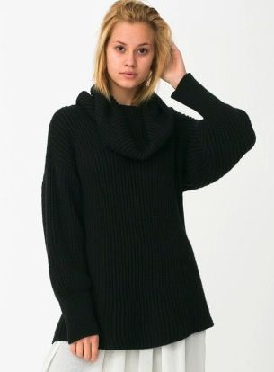 American Apparel  Unisex Oversized Fisherman Turtleneck Sweater
