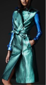 Burberry Prorsum Burberry Prorsum Metallic Leather Trench Coat