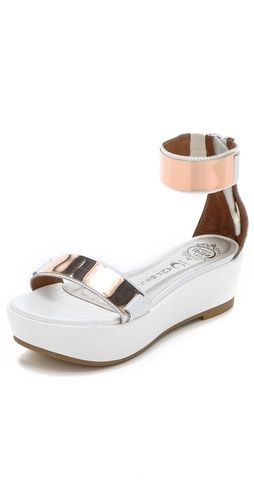 Lars Metallic Platform Sandals  Jeffrey Campbell