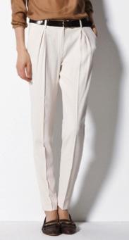 Massimo Dutti  Massimo Dutti Cream Straight Trousers