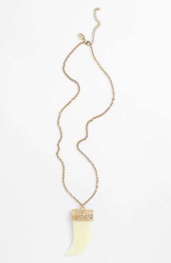 Cara Horn Pendant Necklace