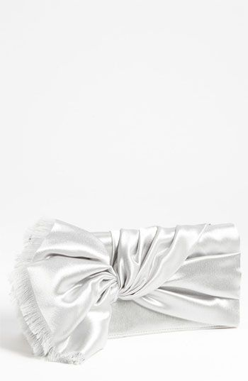 Nina Twist Flap Satin Clutch