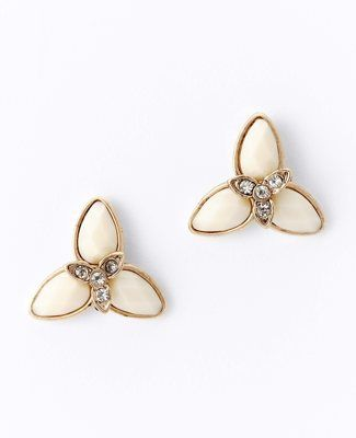 Ann Taylor Three Point Flower Earrings