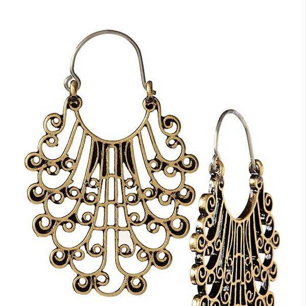 Lucky Brand Filigree Hoop Earrings