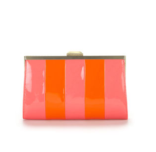 Rachel Rachel Roy Striped Small Frame Clutch