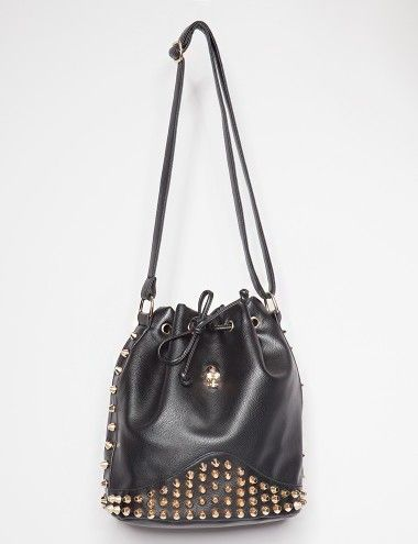 Pixie Market Skull Bucket Bag