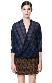 Zara Zara Checked Crossover Shirt