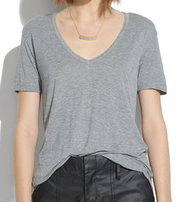 Madewell V-Neck Slouch Tee