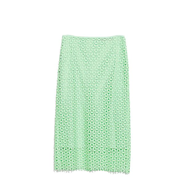 Zara Guipure Lace Pencil Skirt