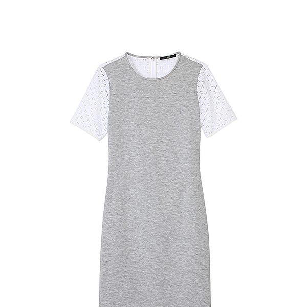 Tibi Italian Ponte Eyelet Dress