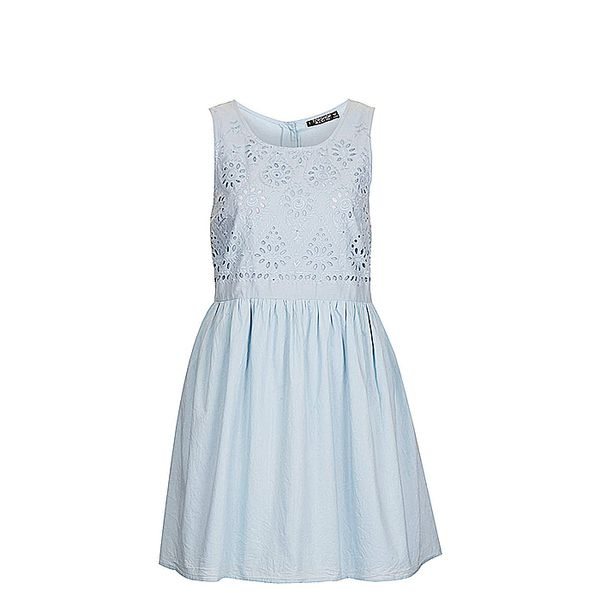 Topshop Eyelet Bodice Cotton Dress
