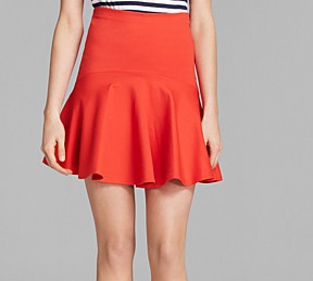 French Connection Bright Lucy Flare Skirt