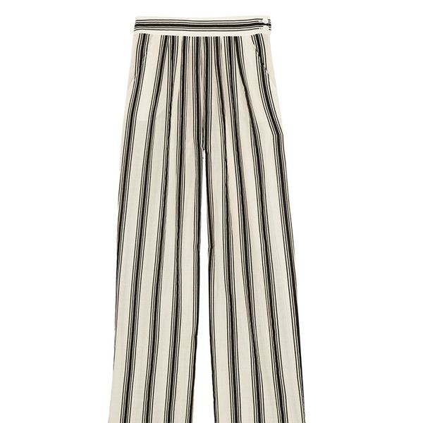 Paul & Joe Striped Cotton-Blend Wide-Leg Pants