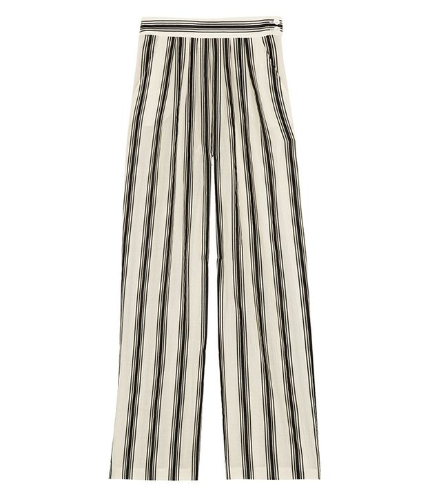 Paul & Joe Striped Cotton-Blend Wide-Leg Pants ($385)