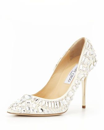 Jimmy Choo Trina Pointy-Toe Jewel Pumps