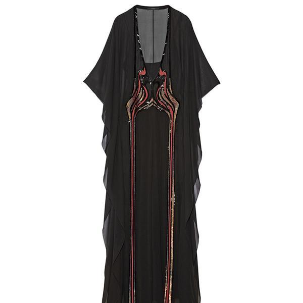 Gucci Embellished Silk-Chiffon Katfan-Style Gown